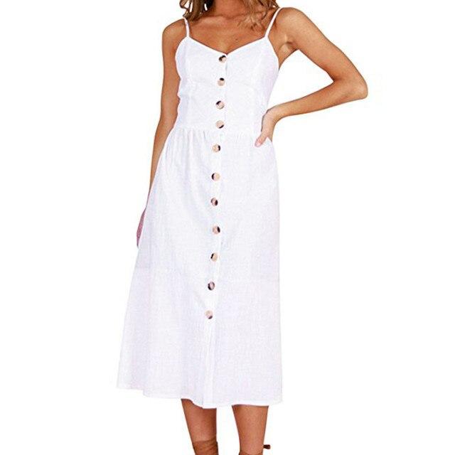 Women long dress sexy Vintage plus size fashion Dress For Women summer Casual dress Elegant Sleeveless A Line Dress loose Female 3