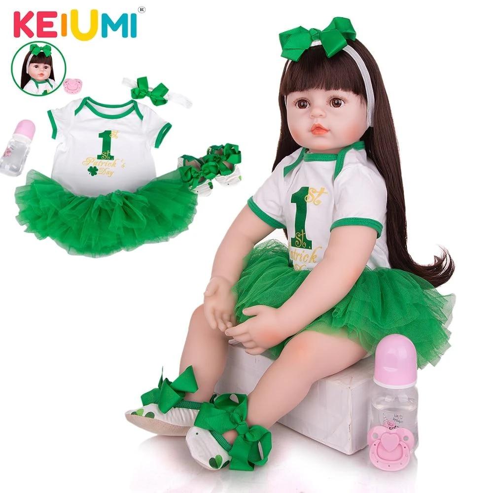 24 inch Reborn Baby Doll Newborn Doll Long Hair Princess Girl Xmas Gift