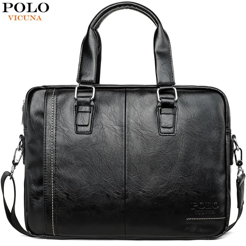 VICUNA POLO, nuevo producto, bolsa de mensajero de cuero de alta calidad para hombre, maletines de conjunto de marca para hombre, bolso de negocios para ordenador portátil para hombre