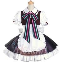 High Q Hatsune Miku Cosplay Costume VOCALOID Cos Kagamine Rin/Len Maid Dress Lolita Anime Cos Dress