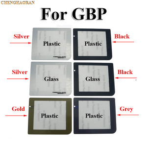 Image 2 - ChengHaoRan 1PC High quality Gold Black Silver For GBP Protective Lamp Hole Plastic Glass Screen Lens for Nintend GameBoy Pocket