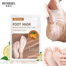 Hemeiel vitamina c pé máscara casca hidratante remoção calos crack calcanhar meia para pedicure pé spa esfoliante 1 par = 2 peças