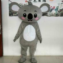 Серый костюм талисмана коалы карнавальный пушистый вечерние