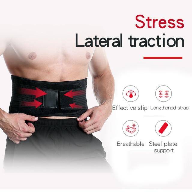 Waist Trimmer Trainer Fitness Gear Utility Belt Adult Sweet Sweat Fajas Lumbares Hombre Sport Belt Workout Back Support Brace