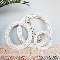 10/20/30 CM Wicker Wreath Decor Christmas Rattan Vine Ring Floral Hoop Natural Ornaments Craft Accessories DIY Garland Gifts