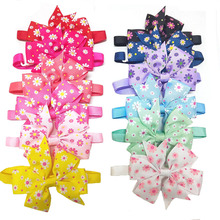 30/50pcs Pet Dog Flower BowTies Colorful Neckties Collar Puppy Dog Cat Ties Accessories Grooming Pet Products Supplies