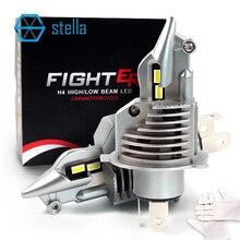 Stella h4/9003/hb2 conduziu as lâmpadas 12v 24v 70w 11600lm do diodo dos bulbos do farol para carros o feixe alto mergulhou a microplaqueta da categoria do automóvel das luzes de névoa do feixe
