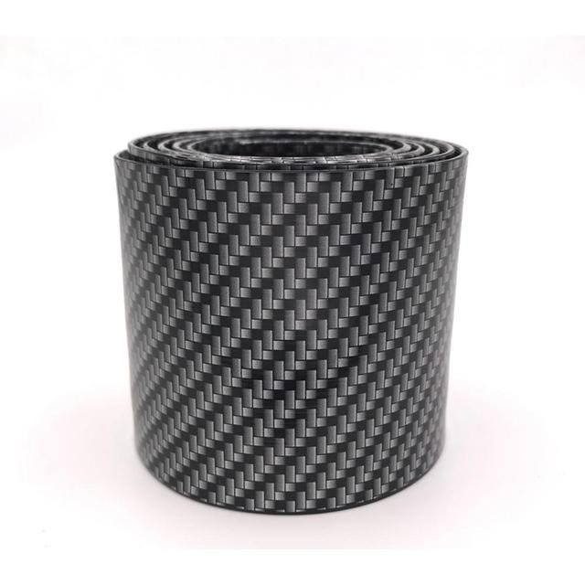 Alician Carbon Fiber Rubber Moulding Strip Rubber for Car Door Pedal Trim Bumper DIY Door Sill Protector Edge Guard Car Styling Bilateral Silver 2.5 m 7 cm Auto Accessories