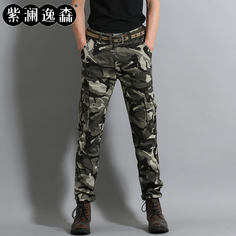 2019 Autumn And Winter New Style MEN'S Casual Pants MEN'S Wear Bib Overall Duo Kou Dai Ku Youth Military Fans Pants