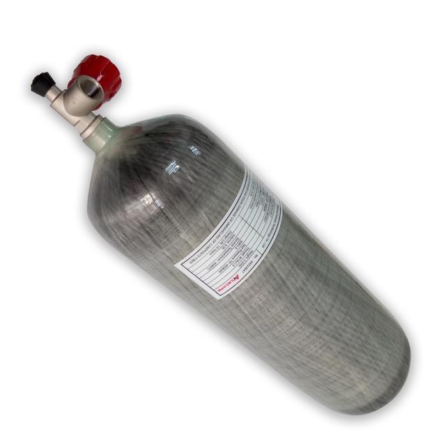 AC10911 Acecare 9L Carbon Faser Zylinder Für Tauchen Paintball Tank 4500Psi Airsoft Airforce Condor Luftgewehr Mit Ventil Pellets
