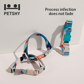 2020 New Petshy Dog Cat Collar Leash Pet Collar Lead for Cat Puppy Small Pet Outdoor Walking Soft Dog Pet Leash in Harness