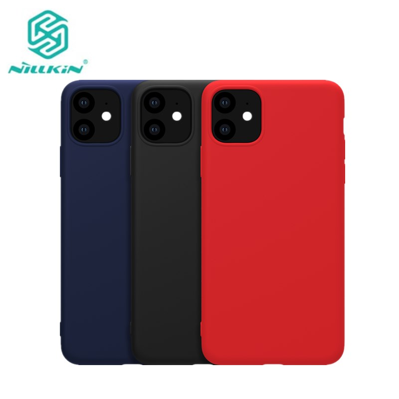 For iphone 11 2019 Cover Nillkin Pure Soft Liquid Silicone Rubber Wrapped Case Anti Shock Phone Shell For iphone 11 Pro Max|Half-wrapped Cases| |  - title=