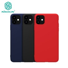 Voor Iphone 11 2019 Cover Nillkin Pure Zachte Vloeibare Silicone Rubber Wrapped Case Anti Shock Telefoon Shell Voor Iphone 11 Pro Max