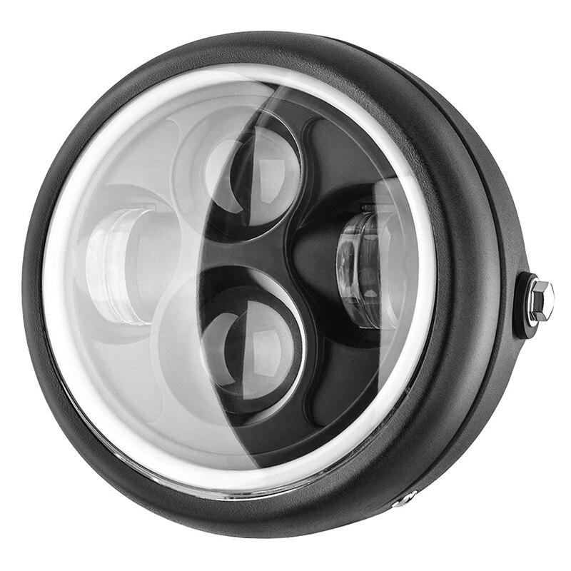 Modified Motorcycle LED Headlight GN125 Headlight 5.75 Inch Retro Headlight Aperture Headlight
