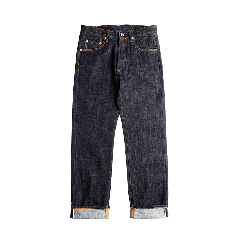 710-0001B Read Description! High Waist Raw Indigo Selvage Unwashed 14oz Denim Pants Unsanforised Raw Denim Jean