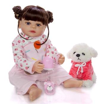 Bebe doll reborn 57CM silicona completo Girl Reborn Baby Doll Bath Toy Lifelike Newborn Princess victoria Bonecas Menina