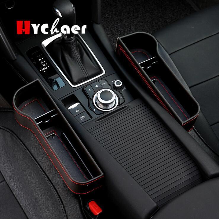 Car Seat Storage Box PU Leather Leak-Proof Car Organizer Storage Case Universal Car Seat Side Gap Container Storage Bag