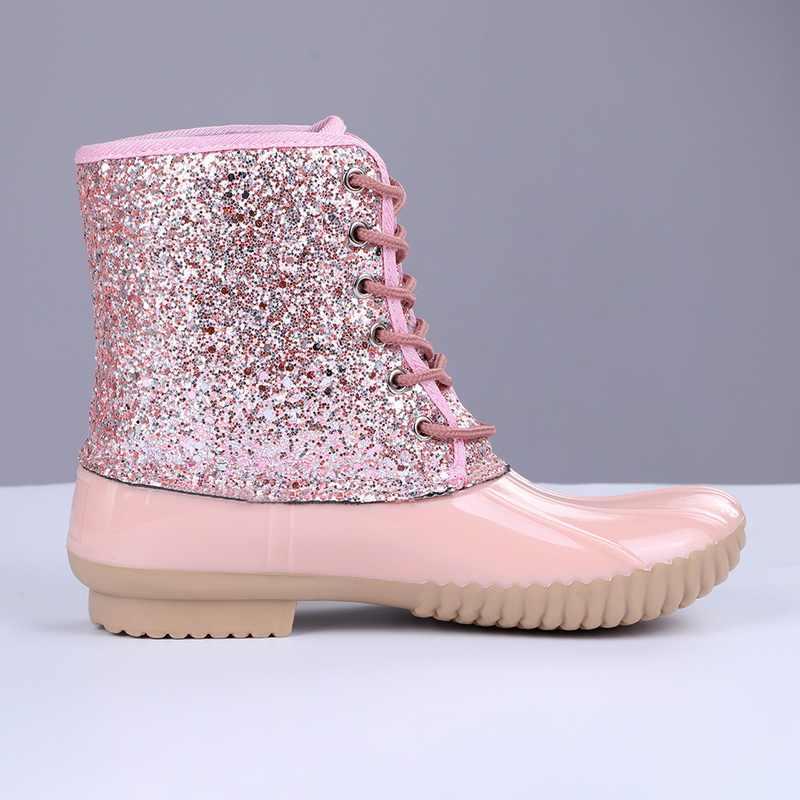Jodimitty Mắt Cá Chân Giày Jelly Giày Nhựa PVC 2020 Sexy Bling Đầm Nữ Giày Buộc Dây Giày Cho Nữ Giày Xăng Đan mujer