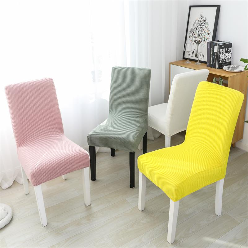 2/4/6 pcs  Jacquard Spandex Polar Fleece Thick FabricStretch Elastic Slipcovers Chair Covers For Dining Room Wedding Banquet 1