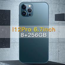 Teléfono Inteligente i12 Pro, smartphone de 6,7 pulgadas, 12GB de RAM, 512GB de ROM, Android 10, 10 núcleos, nadragon 888, SIM Dual, 6800mAh