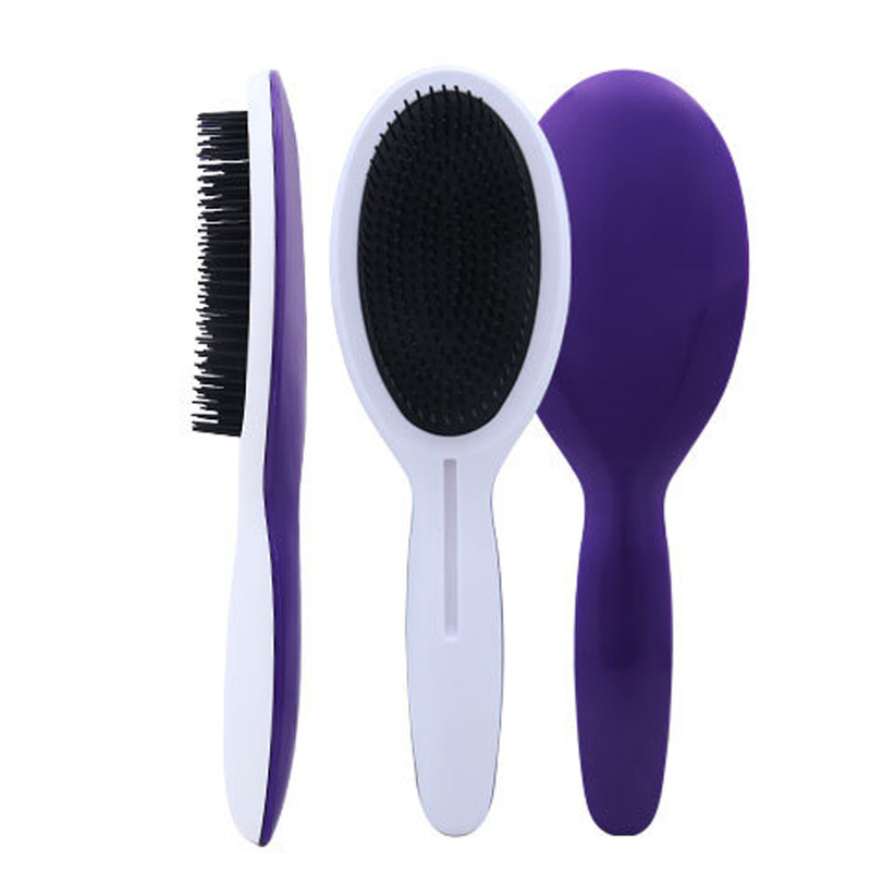 Newest Hair Tangle Brush In Round Curve Design Popular Detangle Hair Brush Comb T-009812 With Long Handle For Hair Care