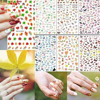 Map_le Leaf Flower Butterfly Manicure Nail Art Decal Stickers Tips Decoration Withmultiple pattern choice meeting your all needs image