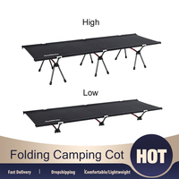 Folding Camping Cot Collapsible Comfy Single Person Bed Portable Lightweight Heavy Duty Bed with Storage Bag for Indoor Outdoor