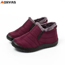New Women Boots Female Down Winter Boots Waterproof Warm Ankle Snow Boots Ladies Shoes Woman Warm Fur Botas Mujer Casual Booties(China)