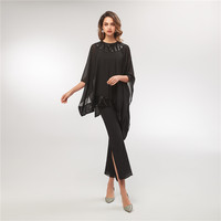 Elegant Women's 3 Pieces Formal Jacket Dress Mother of The Bride Dress Chiffon Jacket Plus Size