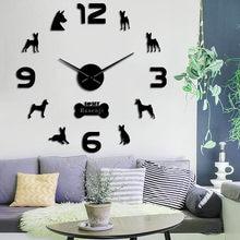 Basenji – grand autocollant mural animal de compagnie, chien de la brousse africaine, horloge sans aboiement, Ango Angari Congo Zande, DIY bricolage, salon