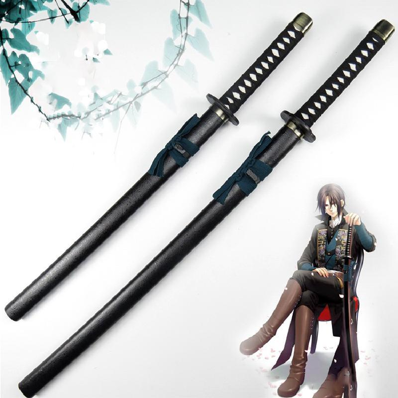 Wooden Knife Sword Weapons Props Hijikata Toshizo Anime Peripheral Cosplay Armed Samurai Sword Wood Ninja Espada Toys For Teens