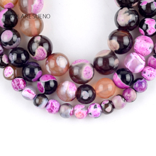"Natural Fuchsia Fire Agates Onyx Stone Round Loose Beads For Jewelry Making 6-10mm Spacer Beads Fit Diy Bracelet 15"" Strand natural fuchsia persian jades stone round loose beads for jewelry making 6 10mm spacer beads fit diy bracelet necklace 15"
