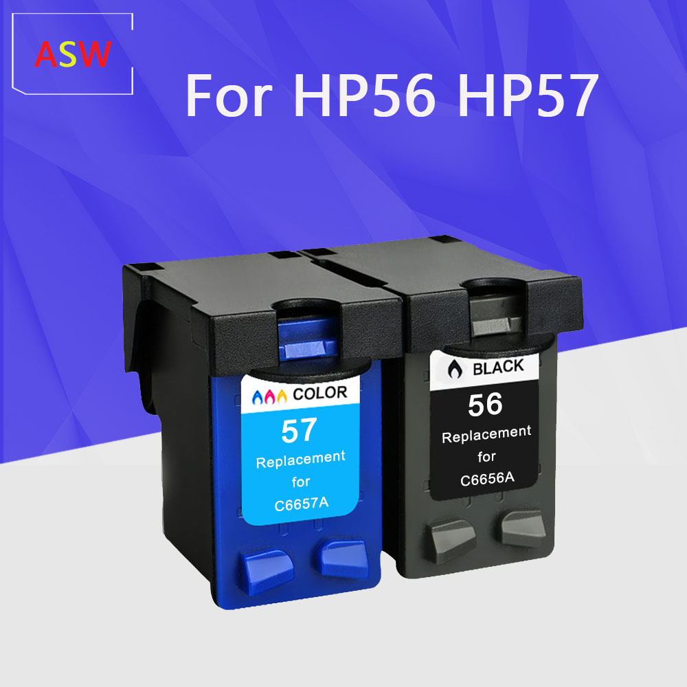 ASW Compatible ink <font><b>cartridge</b></font> for <font><b>hp</b></font> 56 57 Deskjet 5150 450CI <font><b>5550</b></font> 5650 7760 9650 PSC 1315 2110 2210 2410 printer For HP56 image