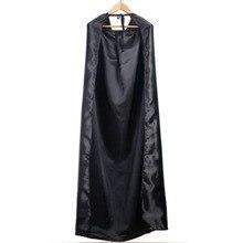 Черный костюм на Хэллоуин, театральный реквизит, толстовка с капюшоном, плащ дьявола, Длинная накидка с капюшоном, косплей