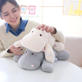 New Creative Software Lying Hippo Doll Pillow Plush Toy Doll Children'S Doll Plush Toy Girl Gift Ae065 недорого