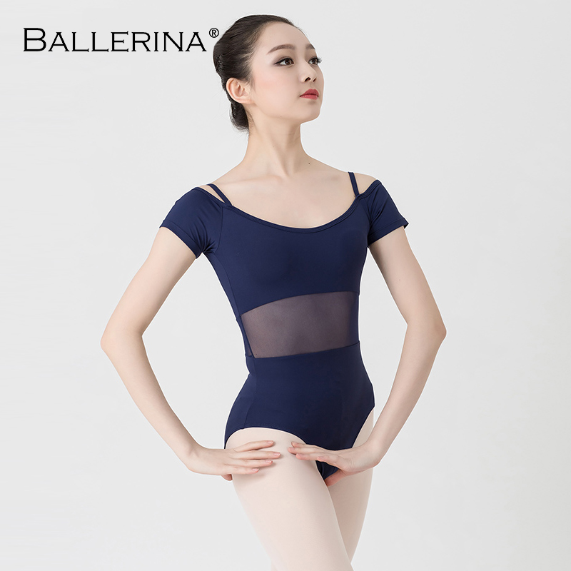 Image 4 - ballet dance Practice short sleeve leotard women Dance Costume gymnastics Sling mesh Leotards Adulto Ballerina 3541-in Ballet from Novelty & Special Use