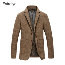 Custom made high quality men woolen plaid tweed suit mens customized Wedding coustume homme slim fit clothing tailored