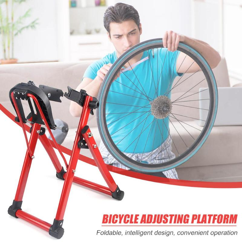 Support de Truing de roue de bicyclette support de Truing de mécanicien à la maison pour la roue de 24-28 pouces