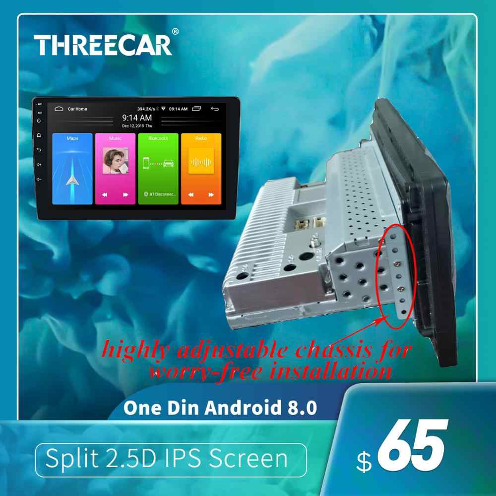 1 Din Mobil Android 8.1 Multimedia Player Quad Core Split 2.5D IPS Layar GPS Navigasi Wifi Bluetooth Audio Stereo (1 + 16)