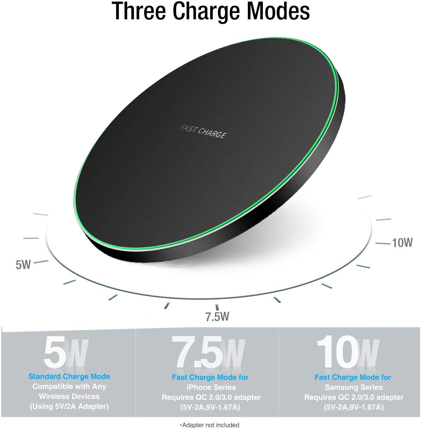 Image 2 - QI Wireless Charger,10W Max Wireless Charging Pad Compatible with iPhone 11/11 Pro/11 Pro Max/XS MAX/XR/XS/X/8, SWireless Chargers   -