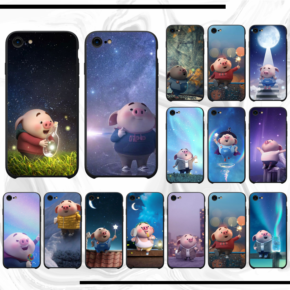 The pig small fart <font><b>Phone</b></font> <font><b>Case</b></font> Cover For <font><b>iphone</b></font> 11 pro max x xs xr 7 8 plus 6 6s 5 5s <font><b>5se</b></font> image