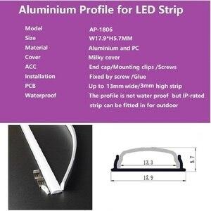 Image 2 - 5pcs of 50cm flat U type 6mm height slim led aluminium profile ,flexible led channel ,bendable matte diffuser bar light housing