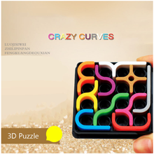 Creative 3D Smart Puzzle Crazy Curve Sudoku Puzzle Game Geometric Line Matrix Educational Toy Children Learning Toy Gift