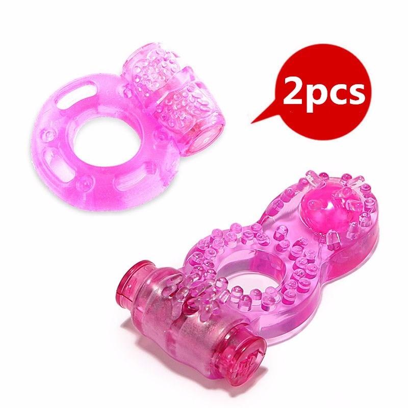 Penis Vibrator Sex Toys For Men Soft Jelly Vibrating Ring Sex Adjustable Adult Toys Tools Vibrator Clitrois Stimulator
