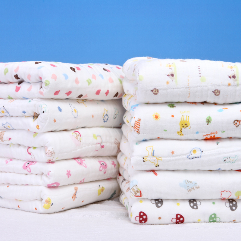 Infant Six-layer Gauze Children's Quilt High Density Gauze Bath Towel Kindergarten Blanket Cotton Baby Wrapping Blanket