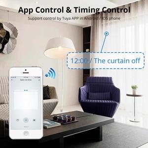 Image 5 - Zemismart New Design WiFi Curtain Motor Tuya Smart Life Customized Electric Curtains Track with RF Remote Alexa Echo Control