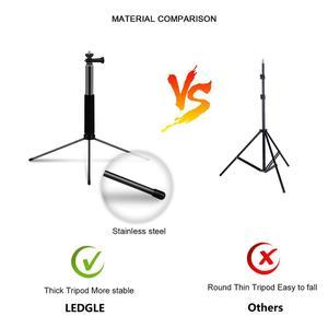 Image 3 - LEDGLE USB רצפת מנורת LED 10 Dimmable גובים סטנד מנורות תמונה למלא טבעת אורות עבור איפור רב פונקציה העין הגנת אור