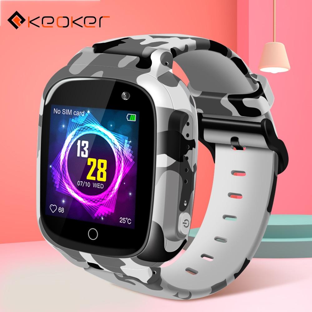 Keoker Smart Watch Kids Colorful Screen GPS WIFI SOS One-click Call Location 600 Mah Anti Lost Monitor Child Smartwatch