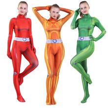 Cosplay Costume Jumpsuits Zentai Bodysuit Totally Spies Simpson Girls Adults Clover Alexandra