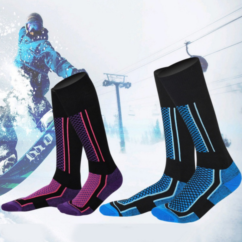 Kids Winter Ski Socks Thicken Winter Outdoor-Indoor Socks Snowboarding Cycling Skiing Hiking Stocking Socks Children Leg Warmer*